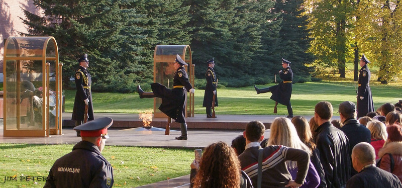 Eternal Flame and Guards of Honor, Tomb of Unknown Soldier at Alexander Garden