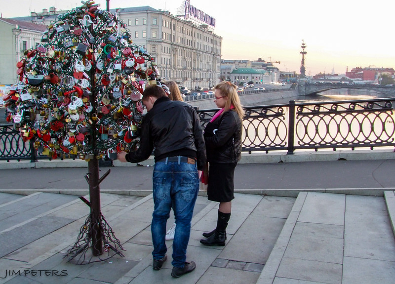 Padlock Trees very common on bridges