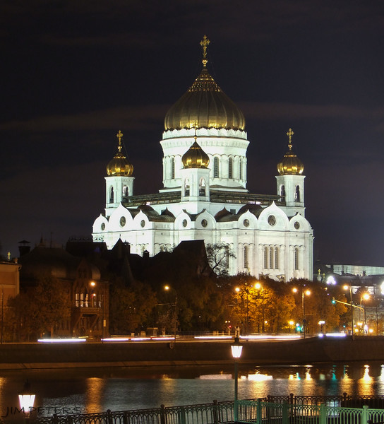 Cathedral of Christ the Savior.  Stalin had this Cathedral blown up.  Completely rebuilt in 1990's.  Capacity of 10,000 worshipers.