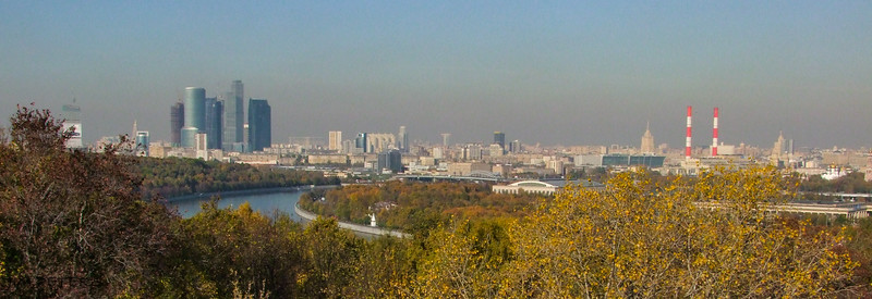 View of Downtown Moscow along Moscow River