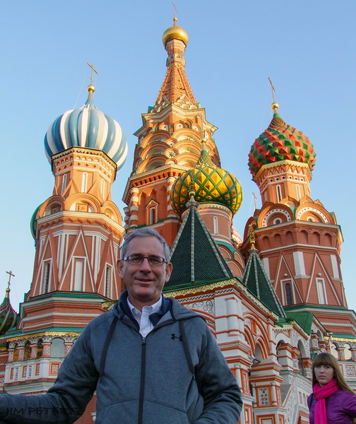 Jim at Cathedral of the Intercession.  Built to commemorate victory of Russian Army over the Kazan Khanate and liberation from Tartar-Mongols.