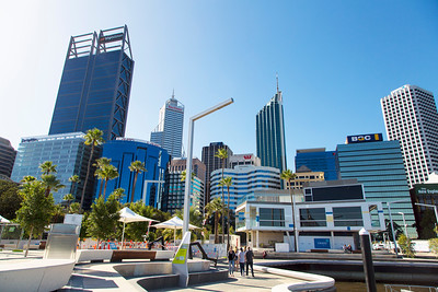 View of downtown Perth from Elizabeth Square.