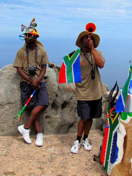 South African Soccer Fans in Capetown