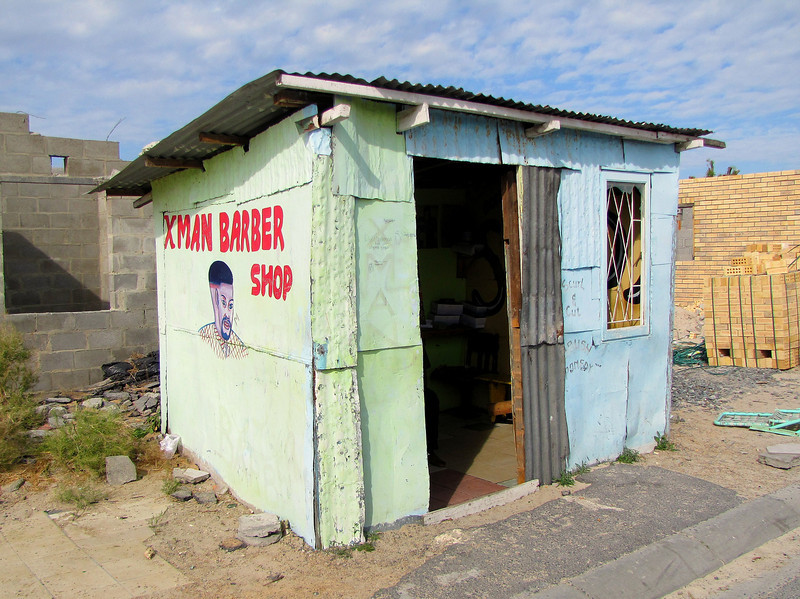 The Local Township Barber Shop in Khayelitsha