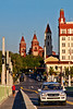 Downtown spires include those of Flagler College, St. Augustine, Florida