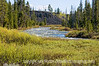 The choppy waters of the Gardner River just opposite Sheepeater Cliff in Yellowstone National Park in Wyoming; best viewed in the largest sizes.  You can also see another good example of columnar jointing just down the river a bit.