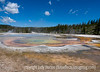 Chromatic Pool, Upper Geyser Basin, Yellowstone National Park, Wyoming