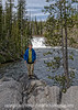 Spencer at Lewis Falls in Yellowstone.  Around Lewis Lake the paths are gravelled in obsidian.