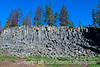Named for the Sheepeater Indians who used to inhabit the area, the cliff is an excellent example of columnar jointing.  The rocks area basalt and are so regular that you could build a house of them.
