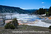 Mammoth Hot Springs, Upper Terraces, Yellowstone National Park, Wyoming; best viewed in the larger sizes