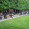 Eating at the Tuileries Garden
