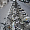 The ubiquitous Paris rent-a-bicycle