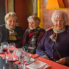 "We struck up a conversation with these three charming French women that happened to be sitting next to us at the Suffren restaurant near the Eiffel Tower.  Antoinette, at the left, was the only one that spoke English and interpreted for the other two, Ines and Simone.  They have been friends for 40 years and were enjoying their once a month lunch out together.  I asked if I could take their photo and they happily agreed if I would send them the results.  I did email the image to Antoinette who responded:  <br /> <br /> ""The three ladies were very pleased to have some nice neighbourhood near them during lunch at Suffren.<br />  Thank you to send me this nice photo. It is a good souvenir and it's very kind of you to have not forgotten.<br /> Best regards to you both.<br /> Antoinette AMEIL""<br /> <br /> Experiences like this are what make travel very special."