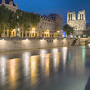 Cathedrale Notre-Dame de Paris across the Seine River - Long exposure