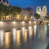 Cathedrale Notre-Dame de Paris across the Seine River - Long exposure