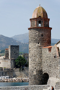 Collioure  harbour, the famous tower