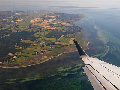 Photos taken of and from commercial planes. ( Amager with CPH Airport). Photo: Martin Bager