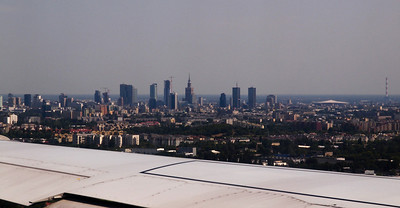 Photos taken of and from commercial planes. Warsaw. Photo: Martin Bager.