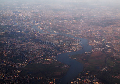 Photos taken of and from commercial planes. London.Photo: Martin Bager