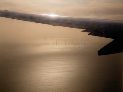 Photos taken of and from commercial planes. (Øresundsbroen). Photo: Martin Bager