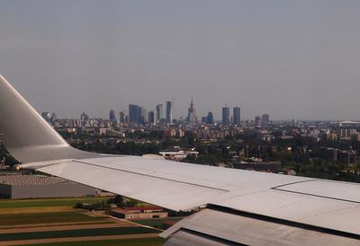 Landing in Warzaw. Photo: Martin Bager