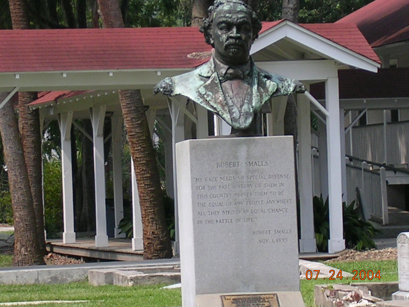 <h2>The First...</h2>African American Congressman. Robert Smalls was born a slave and escaped during the Civil War, and returned to serve five terms in congress for South Carolina.