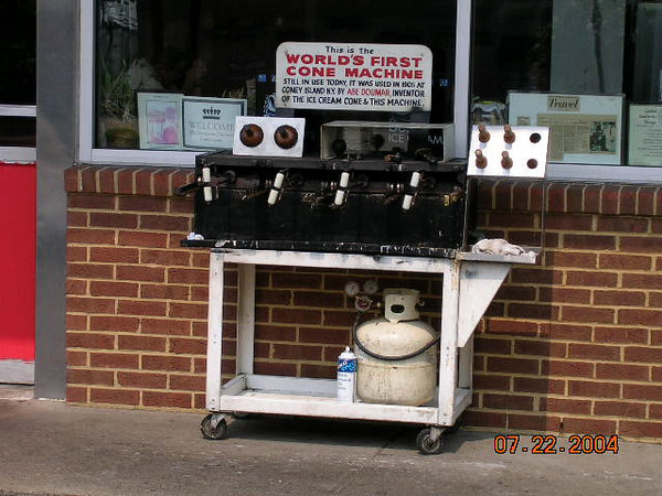 <h2>Scream for Ice Cream</h2>Doumar's is where this contraption can be found.  Still in use they say. Now I head south to the Dismal Swamp.