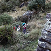Gretchen and Erik make it to the first Inca site after lunch.  Runkuraqay