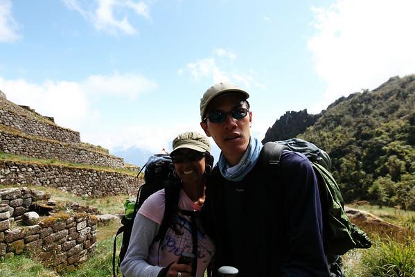 Priya and Chris at Phuyupatamarka