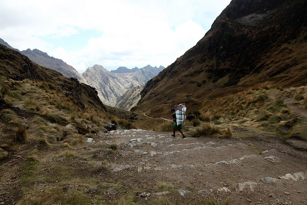 Porters were running down the pass.