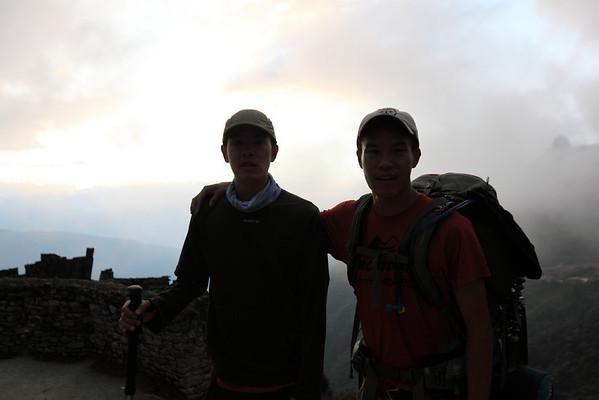 My bro and I at Sayaqmarka