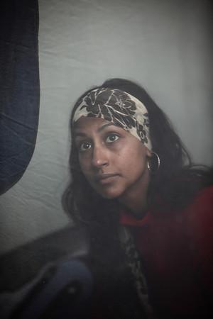 Priya in her sweet campsite 3 tent