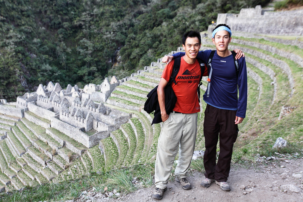 My bro and I at Winaywayna.  The terraces were stunning.  It almost looks like a small model behind us...but I kid you not, it is real.