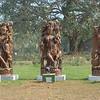 Sculptures in the garden at Raj Bhavan, Orissa.
