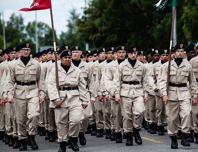 Soldiers in fourth of July parade