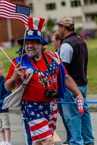Man in fourth of July parade