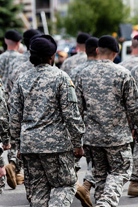 Soldiers boots in fourth of July parade