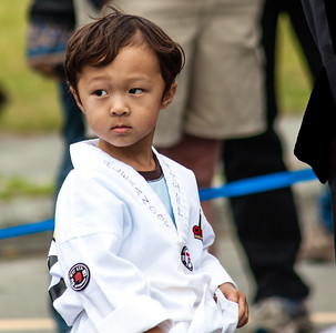 Karate kid in fourth of July parade