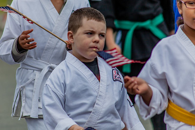 Karate kids in fourth of July parade