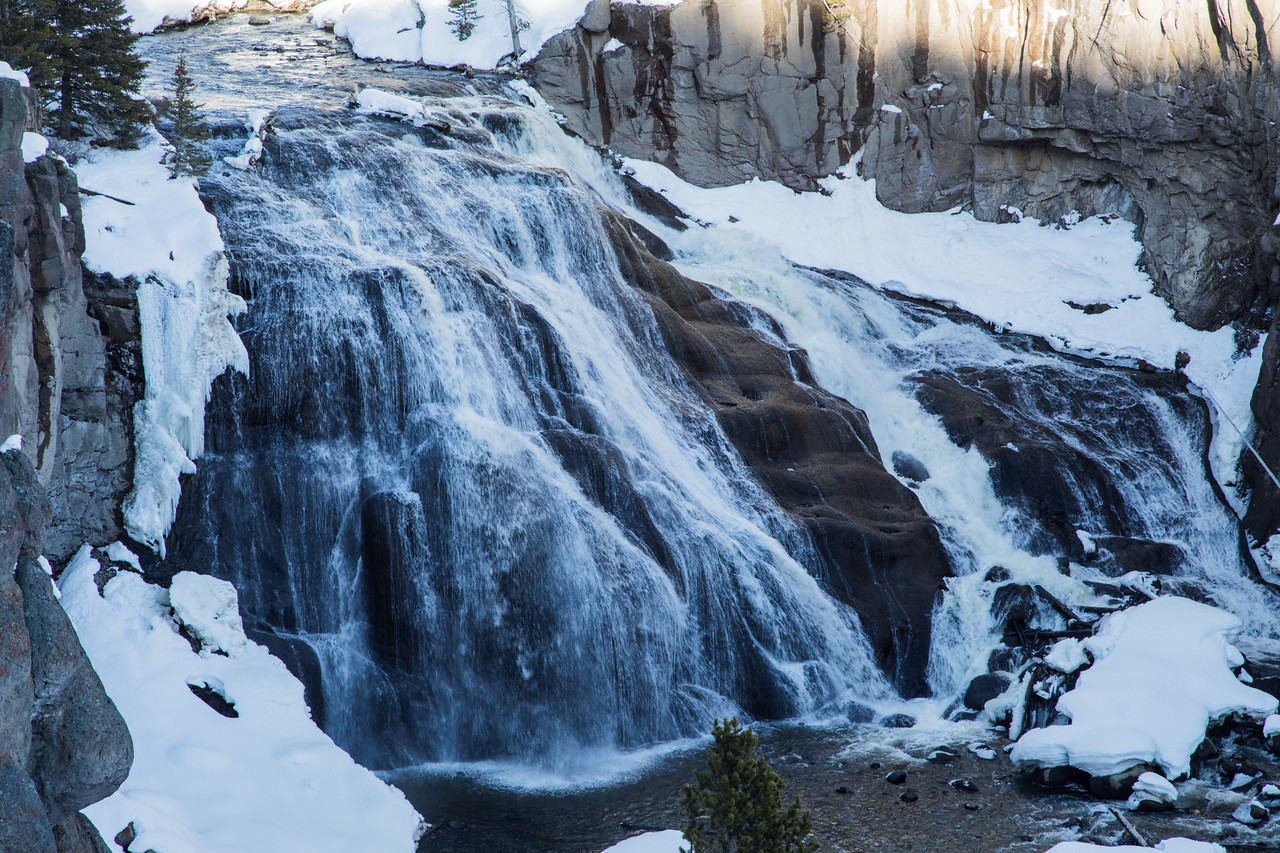 A stop to view Gibbon Falls is another delightful little hike.
