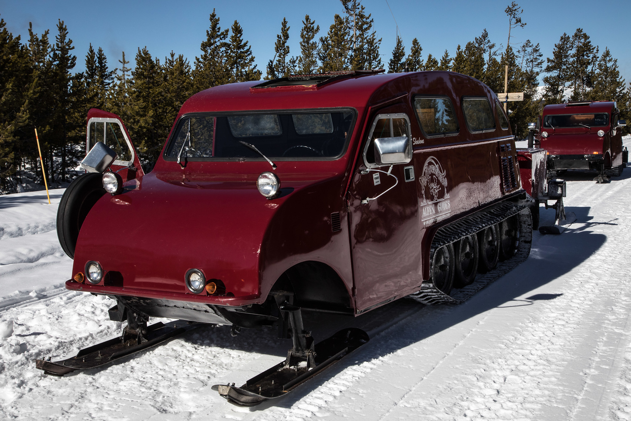 The Bombardier Snow Coaches date back to the early 1950s!!