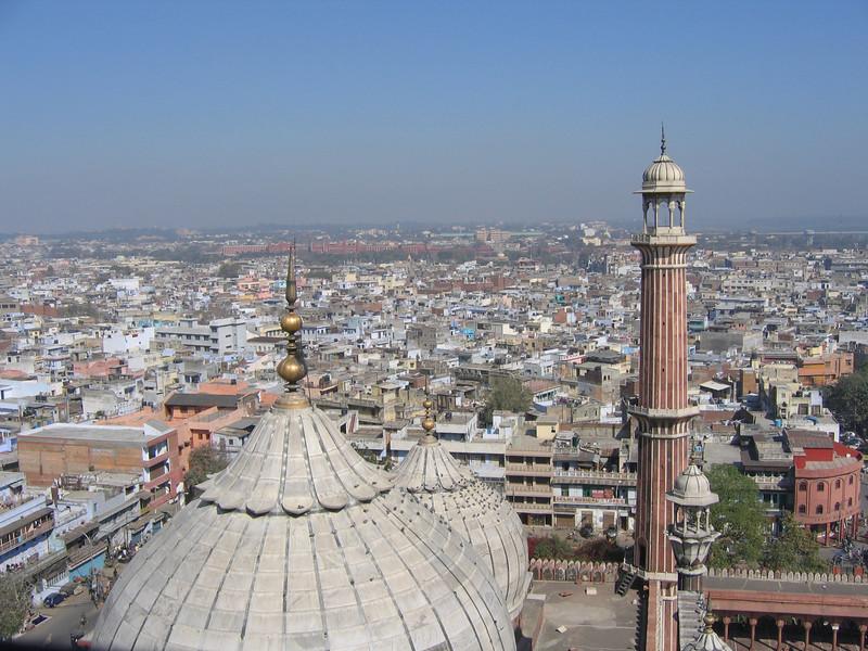 Delhi from mineret, Jami Masjid