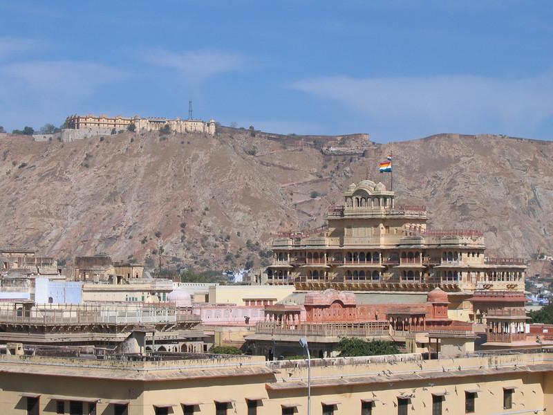 Jaiger Fort and City Palace from Jantar Mantar, Jaipur