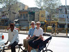 Craig, Jeane and rickshaw driver, Old Delhi