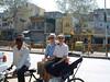 Craig, Jeane and rickshaw driver, Old Delhi