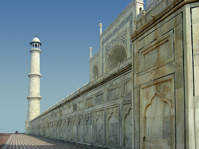 One of the Taj Mahal minarets.  This is one of my favorite photo from the trip.