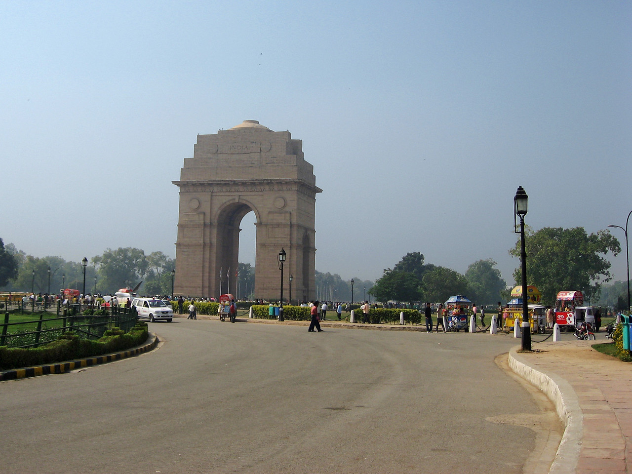 India Gate from a distance
