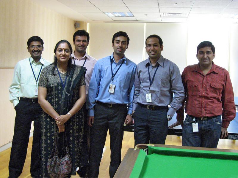 With Gaya are Natarajan Sundaramoorthy, Saurabh Gandhi, Gaurav Maudan, Rafi Ahmad, Jittender