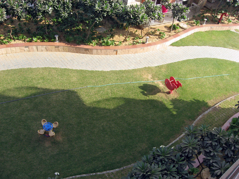 UHG company guest house, view from my room, playground