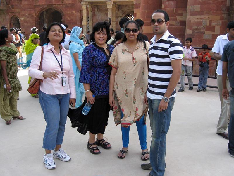 Mili Mitra, Grace, Gaya, and Rafi Ahmad in Qutub Minar